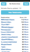 Using AstroDates is very simple. The third step is to view the relationship list.